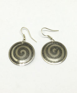 Spiral disk earrings