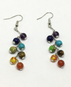 Chakra drop earrings