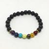 Lava bead chakra bracelet