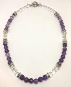 Amethyst and quartz necklace