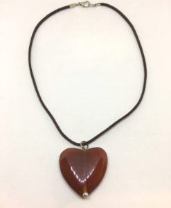 agate heart pendant necklace
