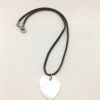 Natural shell heart pendant necklace