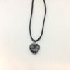 Snowflake obsidian heart pendant necklace