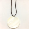 Natural shell disk pendant necklace