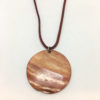 Red shell disk pendant necklace