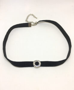 Diamanté circle choker necklace
