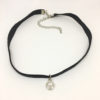 Diamanté ball pendant choker necklace