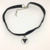 Black triangle pendant choker necklace